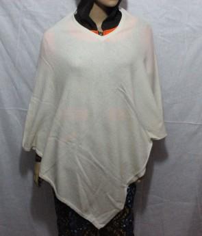 White Color Poncho